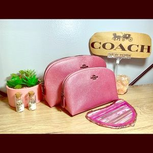 2 piece Coach cosmetic case set! Brand new!